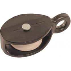 38mm Single Awning Cast Pulley with Nylon Wheel