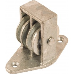 38mm Double Upright Cast Pulley with Cast BZP Wheel