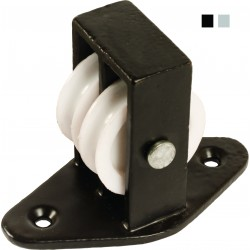 38mm Double Upright Cast Pulley with Nylon Wheel